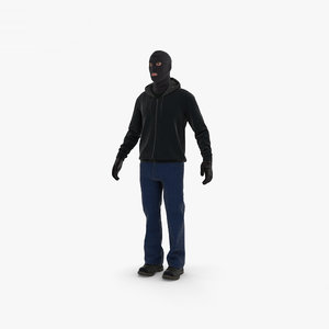 robber thief bandit 3D