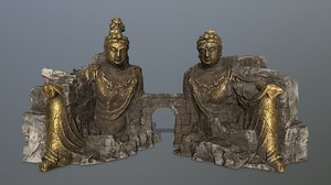 buddha rock 3D model