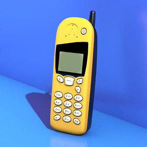 3D nokia 5110 mobile phone model