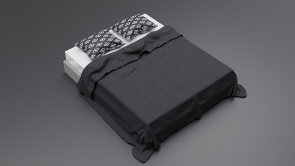 pillows blanket 3D model