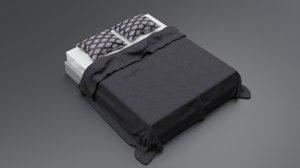 pillows blanket 3D model