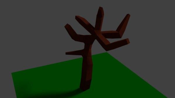 3D low-poly tree