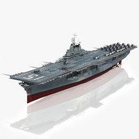 3D model uss randolph cv-15 1944-1945