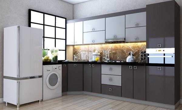 3D model yasildere kitchen