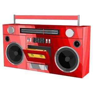 cassette player boombox 3D model