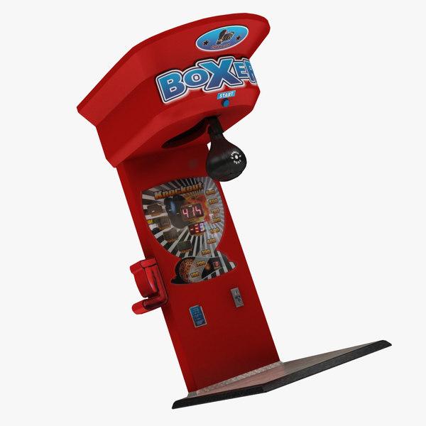 3D model boxing arcade machine
