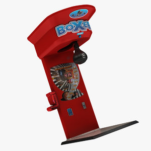 3D model boxing arcade machine