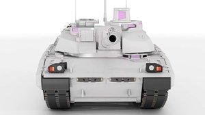 amx-56 leclerc 3D model