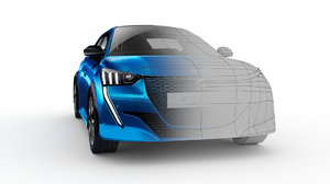 3D car peugeot 2020 e-208 model