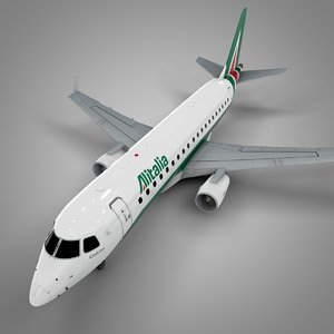 alitalia cityliner embraer175 l515 3D model