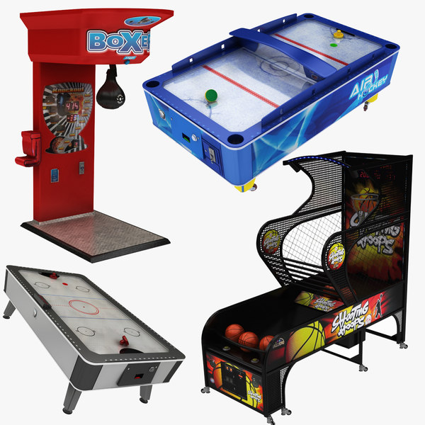 arcade machine 01 boxing 3D model