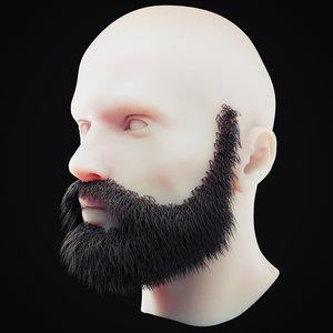 beard 8 3D model