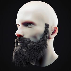 3D beard 10 model