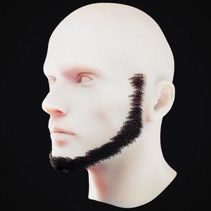 3D beard 6 model
