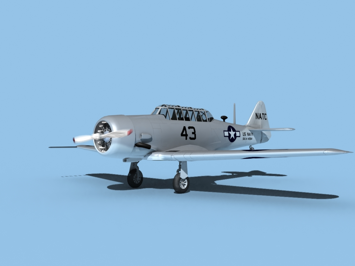 snj harvard north american 3D model
