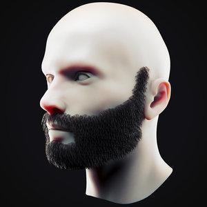 3D beard 12 model