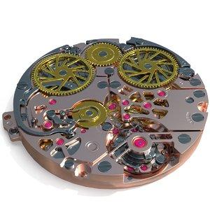 3D watch mechanism pbr