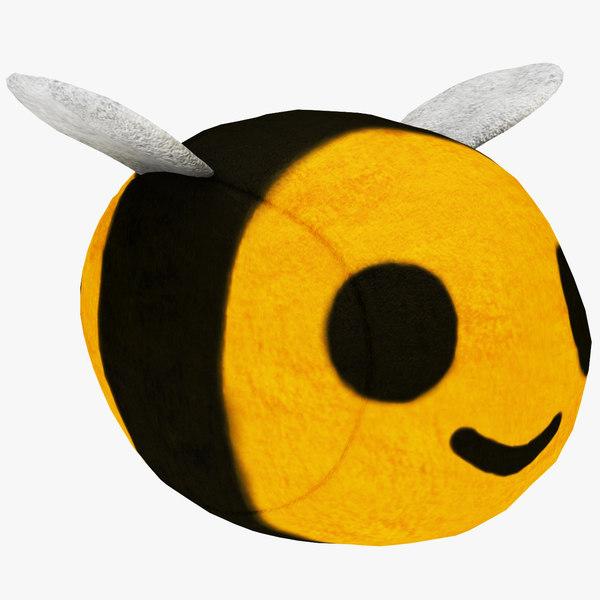 3D plush bee model