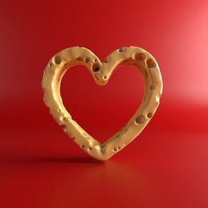 3D cheese heart model