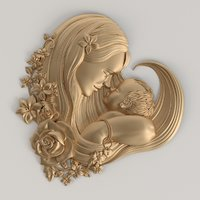 mom baby 3D model