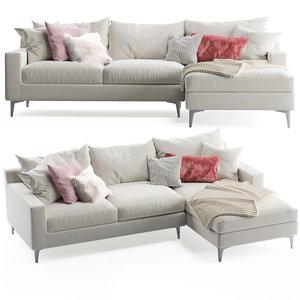 sloan chaise sofa model