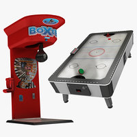 3D boxing arcade air hockey