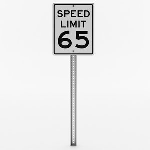 3D speed limit sign