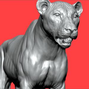 3D lion big cat vfx