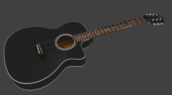 3D guitar acoustic