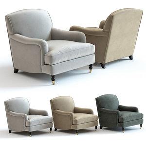 3D sofa chair howard armchair