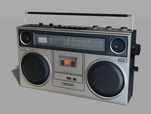 3D vintage sanyo 80s model