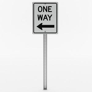way sign model