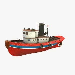 3D coast guard tug boat