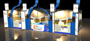 3D stand exhibition booth design model