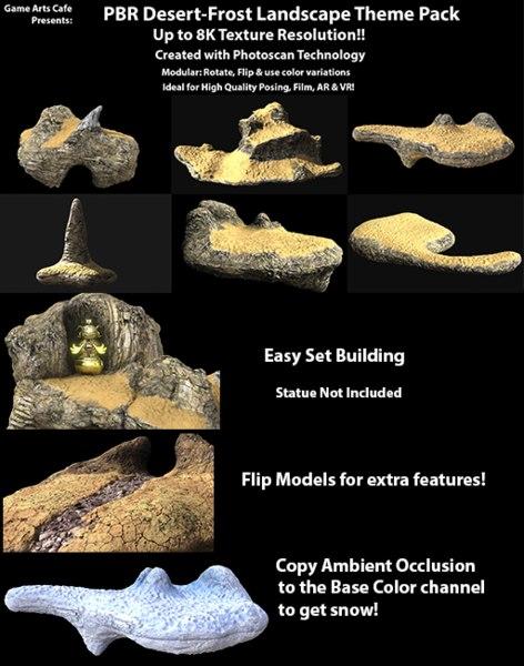 8k pbr desert frost 3D model