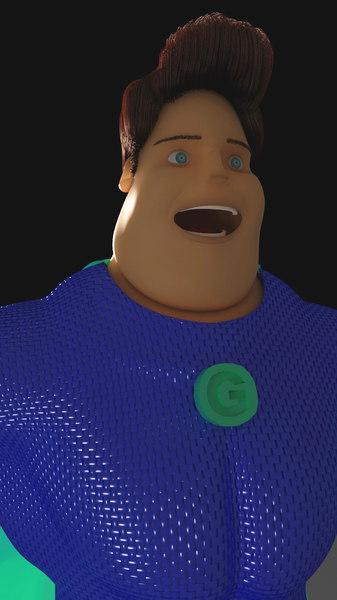 3D superhero model