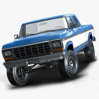 Pickup Truck Low Poly