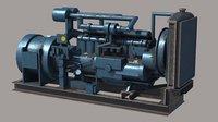 3D diesel generator pbr
