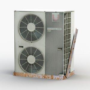 3D outdoor air conditioner ac