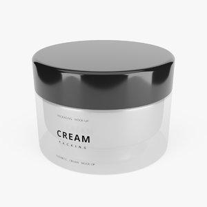 cosmetic cream 2 3D