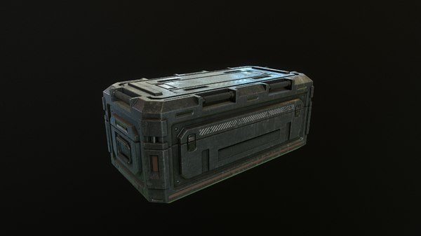 3D military container box model