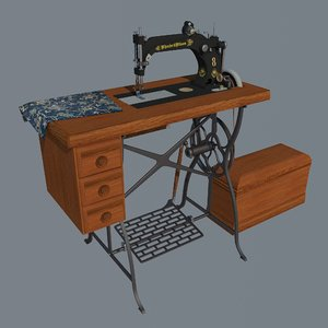 3D wheeler wilson sewing machine
