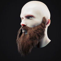 Beard Low Poly 16