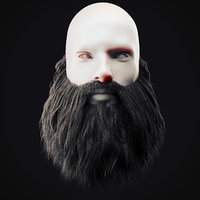 Beard Low Poly 15