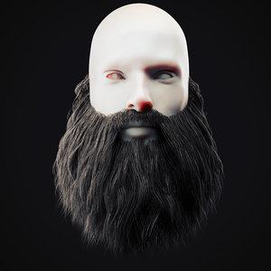 3D model beard 15