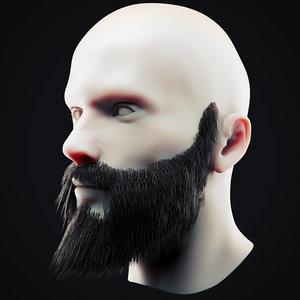 3D beard 14 model