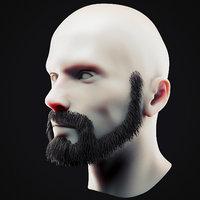 Beard Low Poly 18
