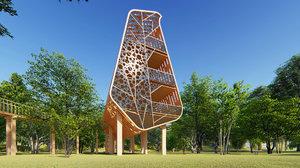 3D tree house model