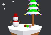 3D simple cartoon christmas tree model