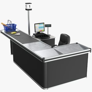3D real cash counter model